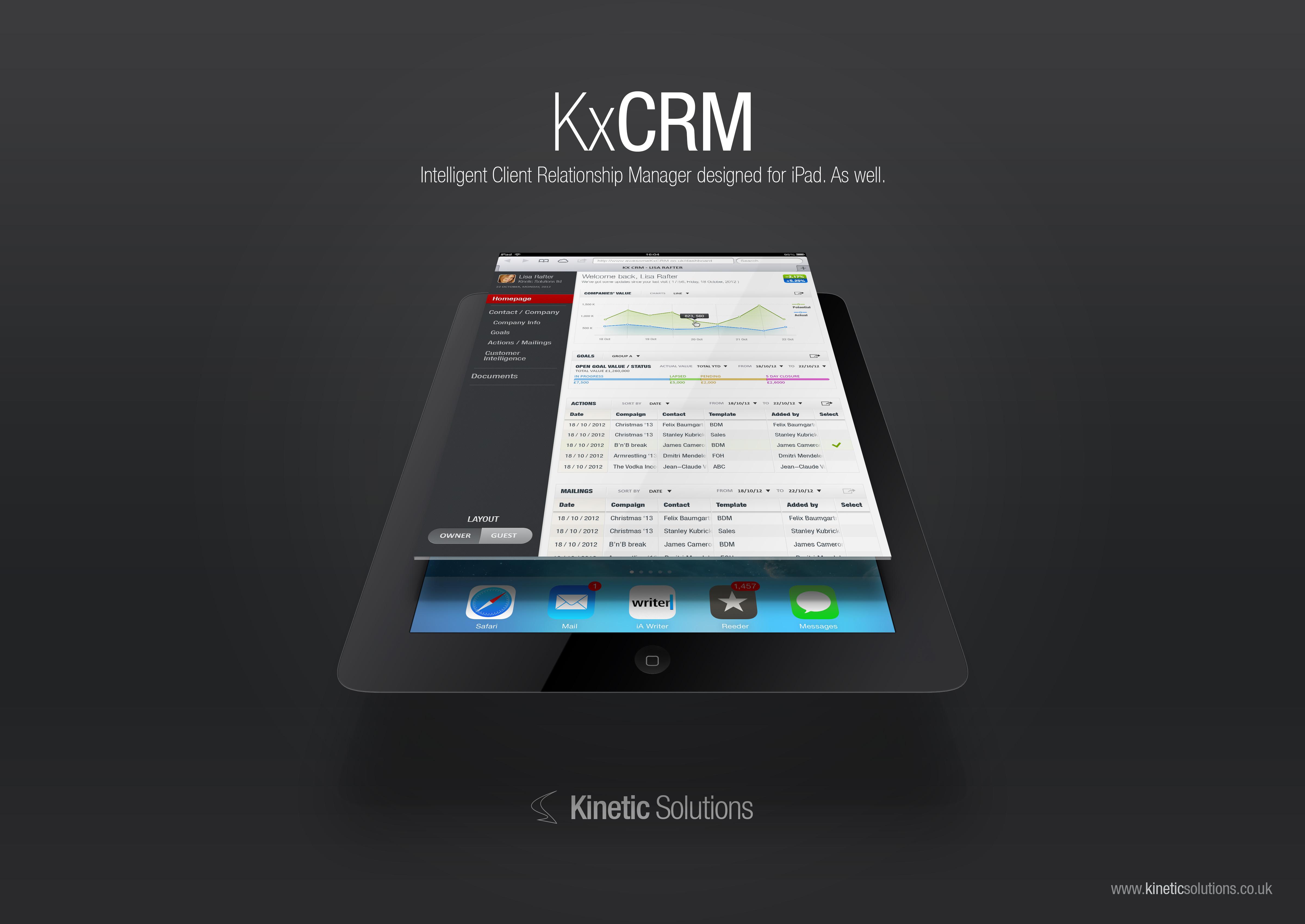 KxCRM black
