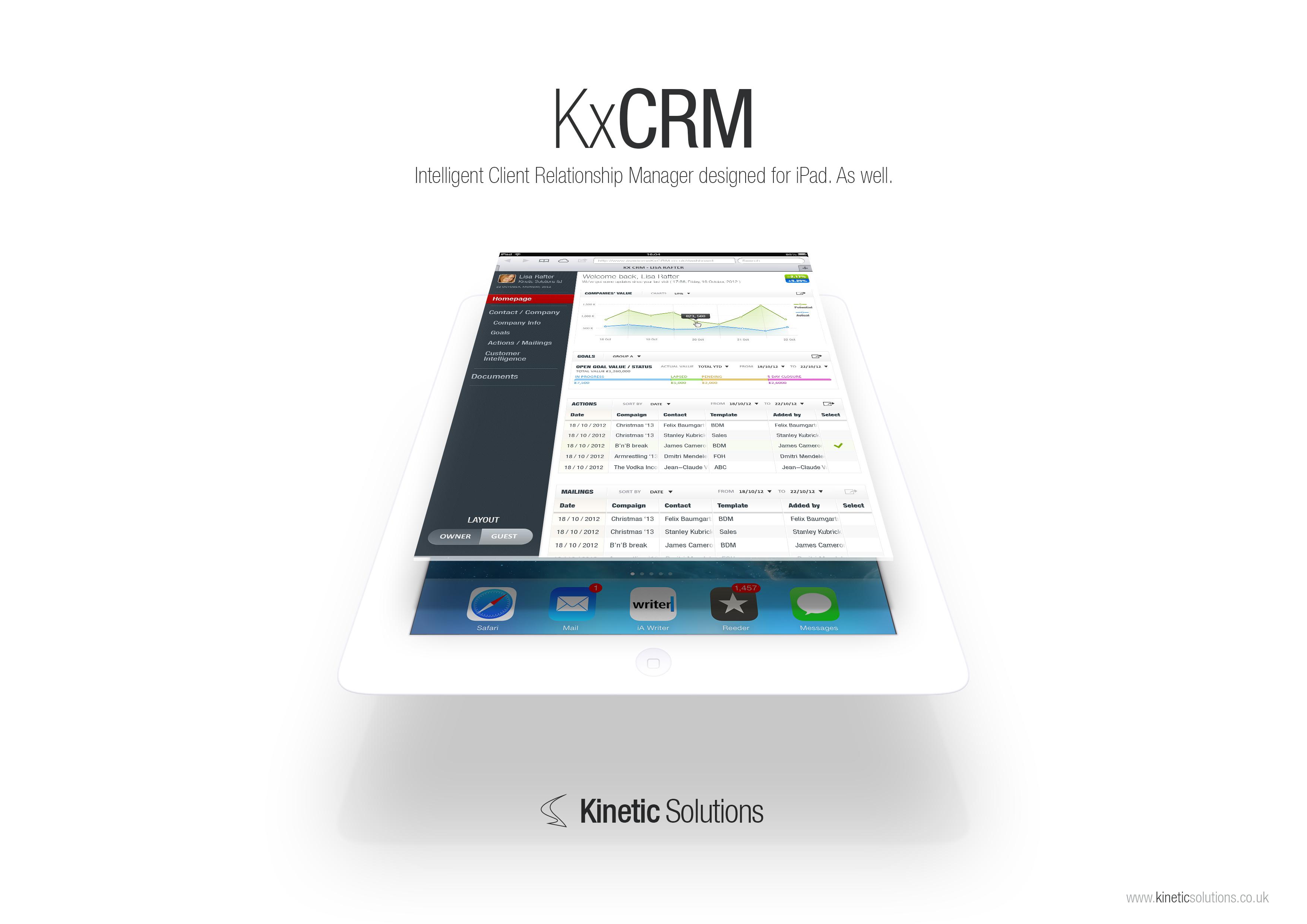 KxCRM white